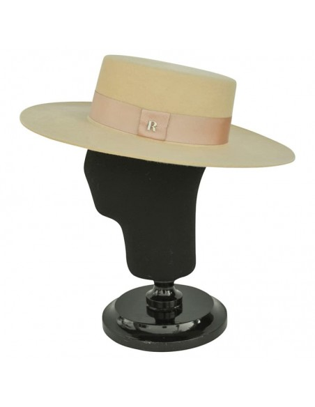 Canotier Felt Hat Cream color