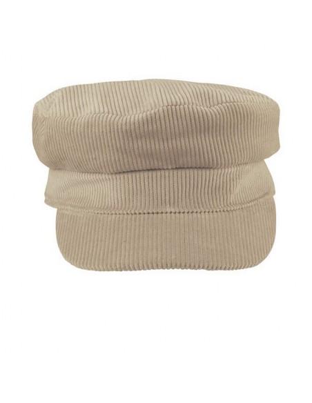 Fisherman cap corduroy - Escala Cream Color