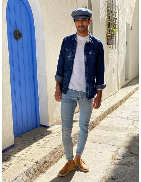Gorra de los Peaky Blinders - Azul Jeans Gorro