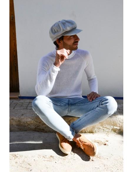 Light Blue Jeans Peaky Blinders Cap