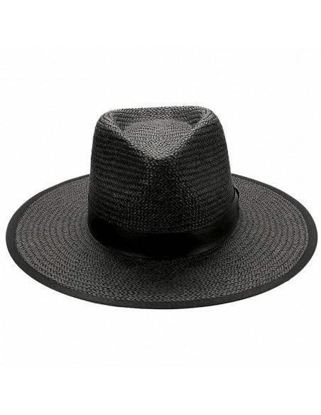 Sombrero Paja Florida Negro - Sombreros Verano para hombre - Estilo borsalino