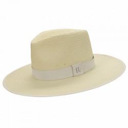 Sombrero Paja Florida Blanco - Sombreros Verano - Estilo Fedora