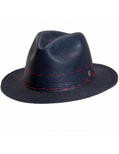 Sombrero hombre Panamá Cuenca Azul Marino