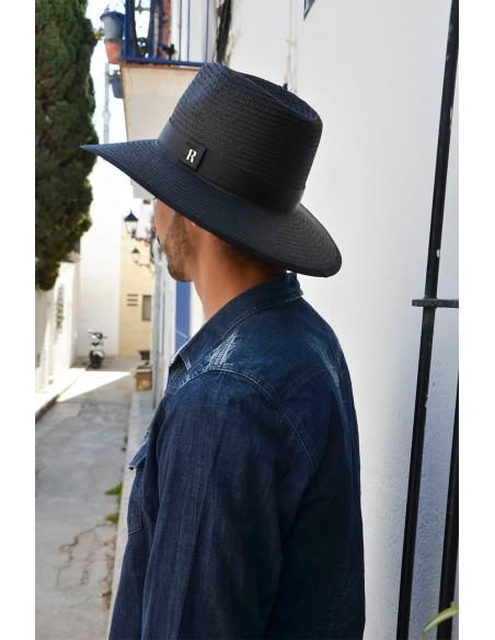 Black fedora for Men-Straw Hat Florida  - Summer Hats for Men