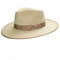 Beige Nuba hat for men- Felt hat fedora for men Nuba