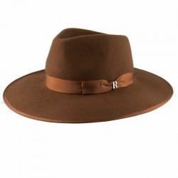 Sombrero fieltro para hombre Nuba Caramelo