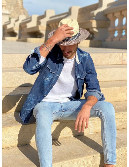 Panama Hat Twist White for men