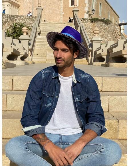 Sombrero Panamá Hombre Azul - Sombreros Hombre Fedora