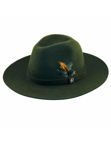 Sombrero de fieltro color kaki para hombre