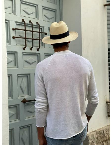 Panamá Hat Cuenca natural - Panama hat classic for men