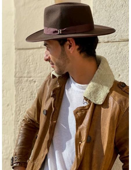 sombrero marrón para hombre