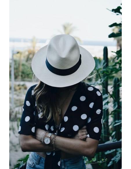 sombrero color natural mujer