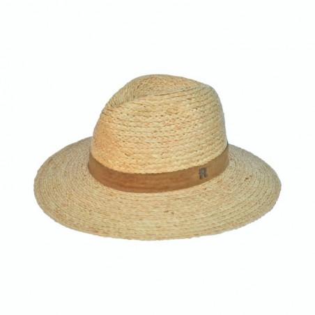 Sombrero Paja Natural Estilo Fedora Mujer - Sacramento - Hecho en España