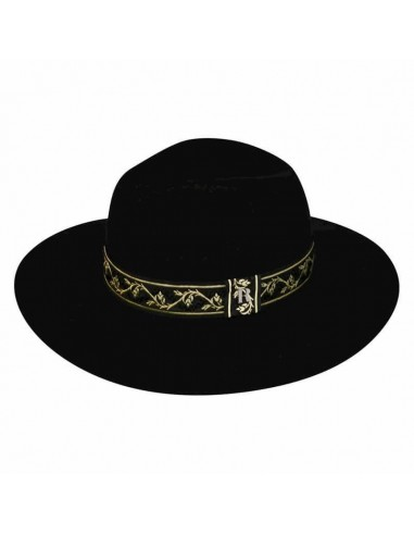 Gianni Hat in Wool Felt with Gold Ribbon