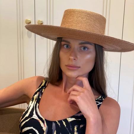 Sombrero Canotier Ala Ancha