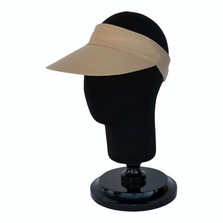 Visor Shady Leather Beige - Women Visor Caps