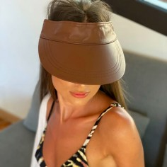 Visor Shady Leather Brown