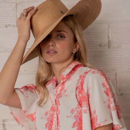Palm Hat Wide-Brimmed - Fedora Style