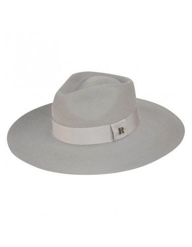 Light Grey Wide Hard Brim - Fedora Winter Fedora - Unisex