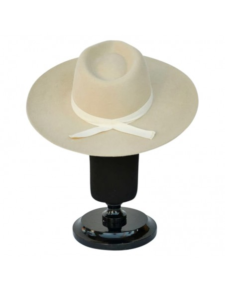 Sombrero Fedora Evie Crema de Ala Ancha Hombre