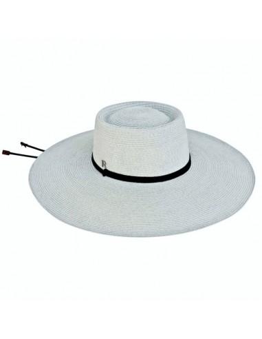 Sombrero Mujer Ala Ancha Texas Gris
