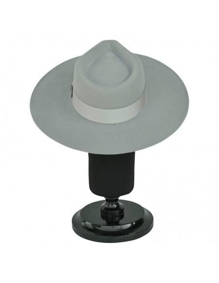 Wool Felt Hat - Light Grey Wide Brim - Fedora Style Unisex