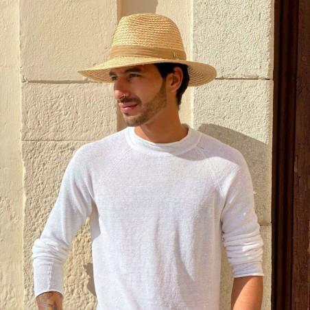 Sombrero Paja Natural Estilo Fedora - Sacramento Hombre