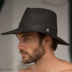 Black fedora for Men-Straw Hat Florida  - Summer Hats for Men