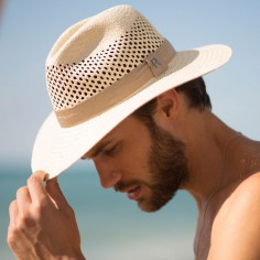 Fedora Hat Recycled Paper Straw for Men - Summer Hats for Men