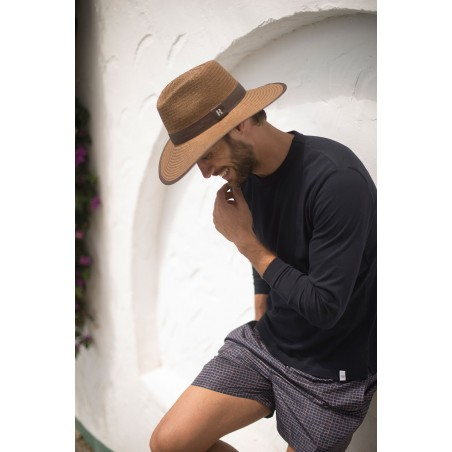 Straw Hat Florida Brown - Fedora Style - Men's Hats