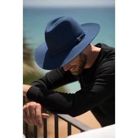 Sombrero Fieltro de lana para hombre - Color Azul Jeans