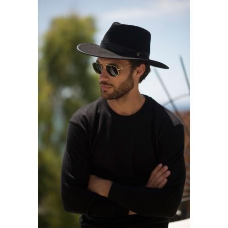 Black Nuba Hat - Wool Felt Fedora