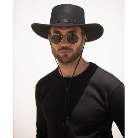 Sombrero Billy Negro para Hombre Estilo Cowboy