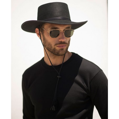 Black Billy Hat for Men - Cowboy Style