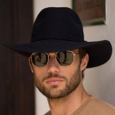 Sombrero Hombre Fedora 100% Fieltro de Lana