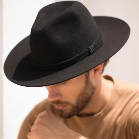 Black Salter Hat - Fedora Wool Felt