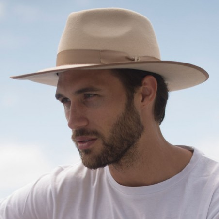 Sombrero Nuba Beige Fieltro de Lana - Sombreros Invierno