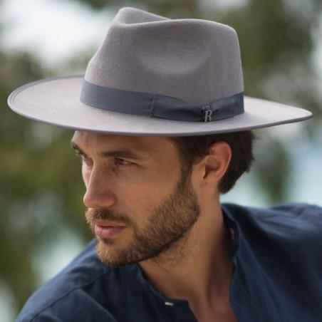Sombrero Nuba Gris para hombre- Sombrero de fieltro hombre