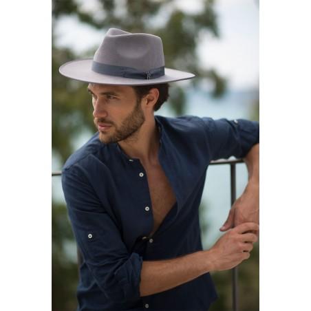 Grey Nuba Hat Fedora for men - Wool Felt Fedora