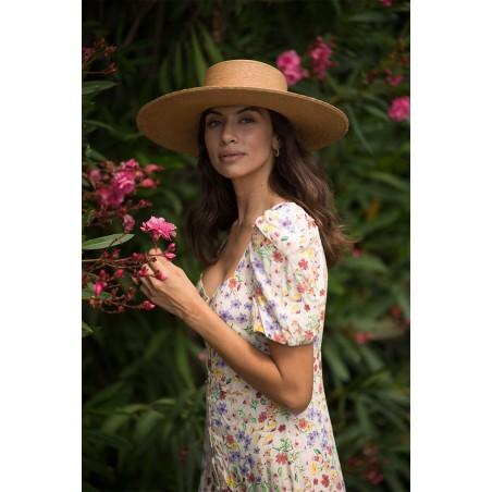 Sombrero Canotier Mujer Ala Amplia - Ideal Bodas