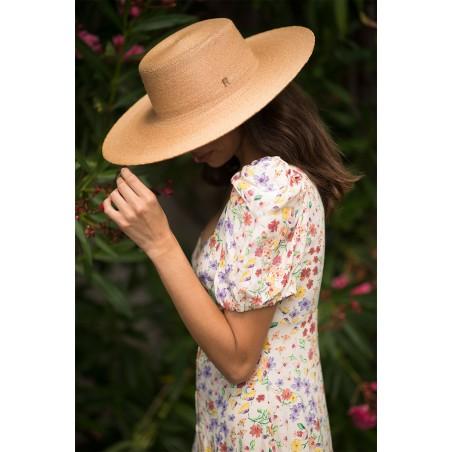 Sombrero Canotier Mujer Ala Ancha - Ideal Bodas