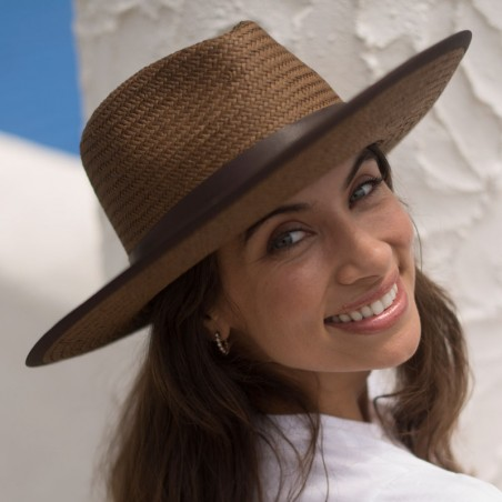 Straw Hat Florida Brown - Summer Fedora Style