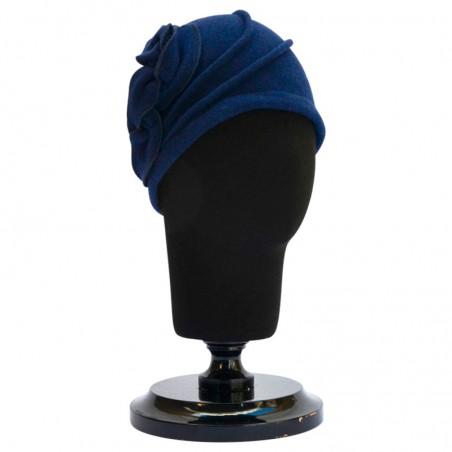 Gorro Lana Vintage Sarah Azul Marino