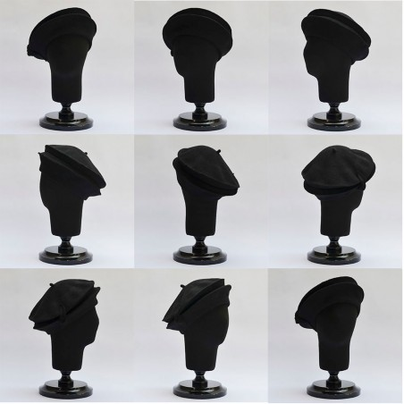 Helen Beret Black - French Style