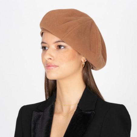Ceci Beret Camel - Parisian Style
