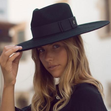 Sombrero Ala Ancha Colorado - Ala Rígida - Fieltro de Lana