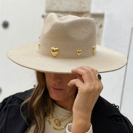 Gala Wide Brim Beige Fedora - Limited Edition