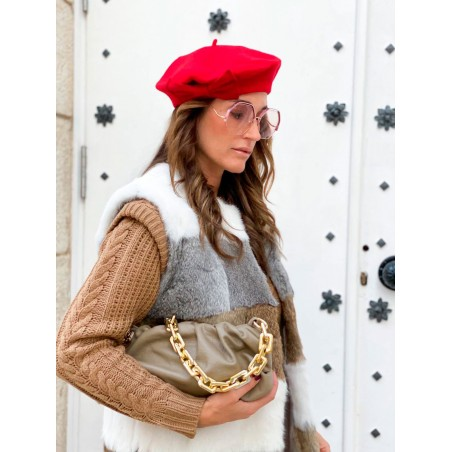 Red Julia Beret French Style