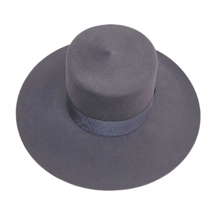 Florence Wide Brim Light Grey Boater