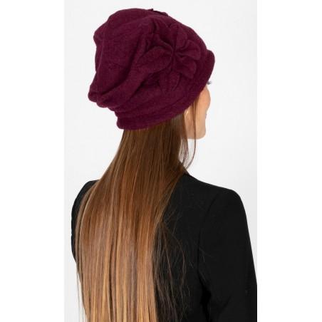 Wool Aiden Burgundy Hat  - Caps for Women - Wool Hat Womens